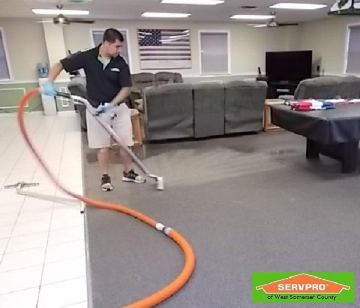 Commercial The Hillsborough Fire Department calls on SERVPRO® for a water damage